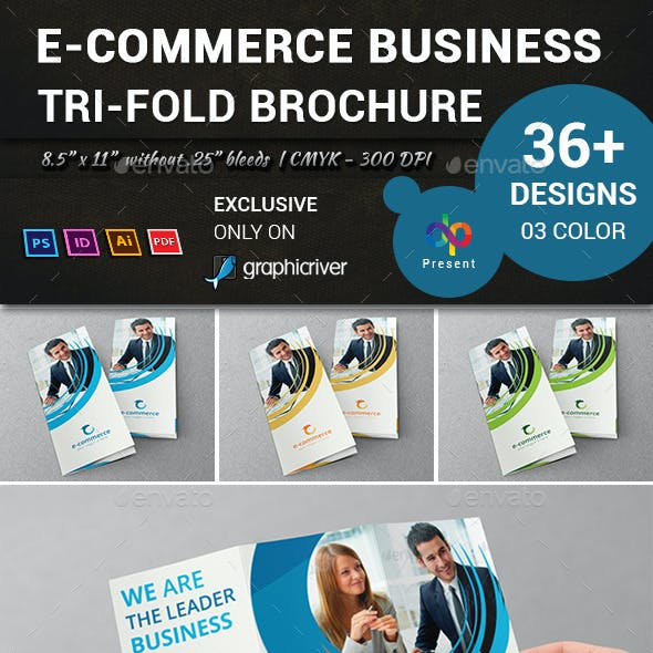 E-Commerce Business Tri-Fold Brochure