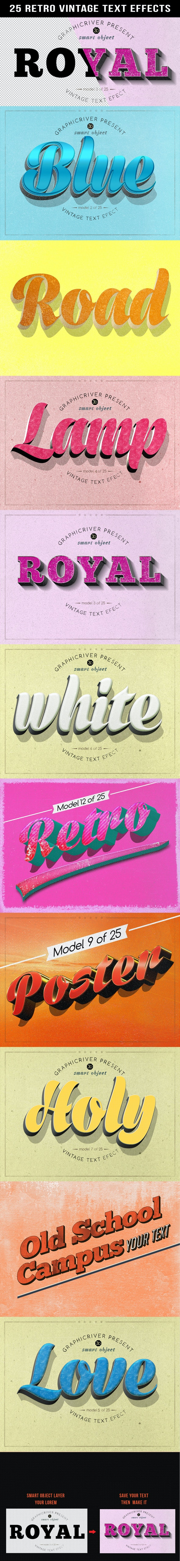 Retro Vintage Text Effects - Text Effects Styles