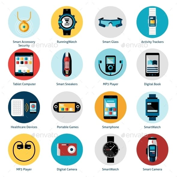 Wearable Technology Icons