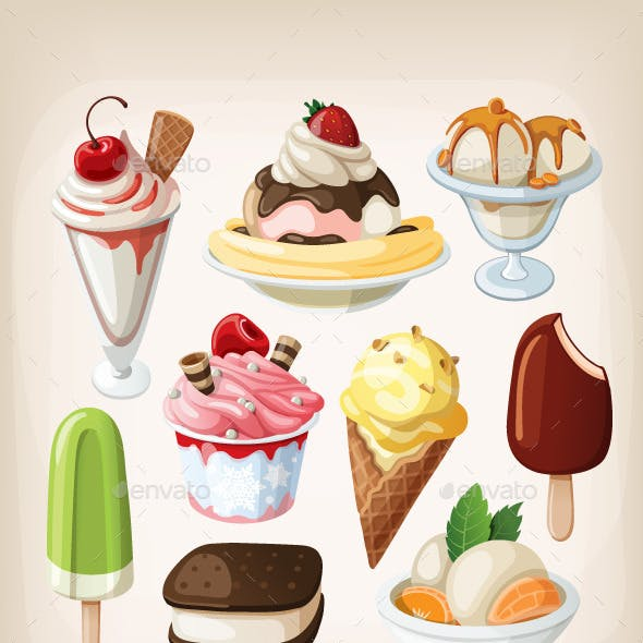 Set of Ice Cream