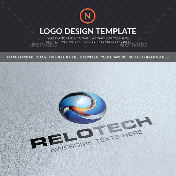 R Sphere Logo Template