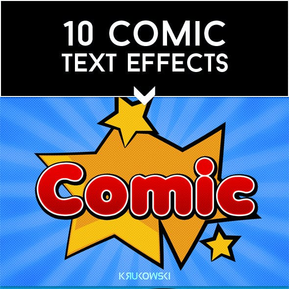 Comic Text Effects