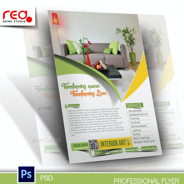 Interior Art's Flyer & Poster Template