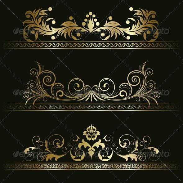 Set from retro frames - Patterns Decorative