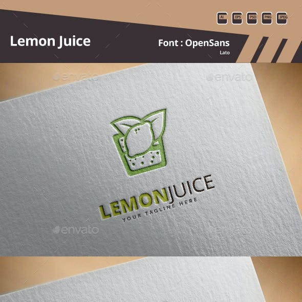 Lemon Juice Logo Template
