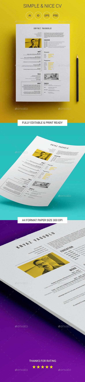 Simple & Nice CV - Resumes Stationery