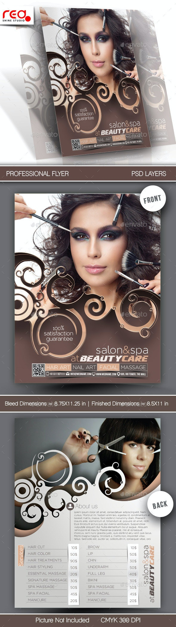 Beauty Care Flyer Template - Commerce Flyers