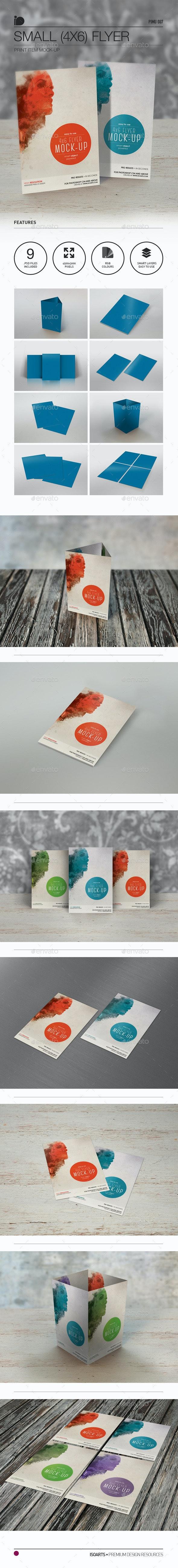 Mock-Up • Small 4x6 Flyer - Flyers Print