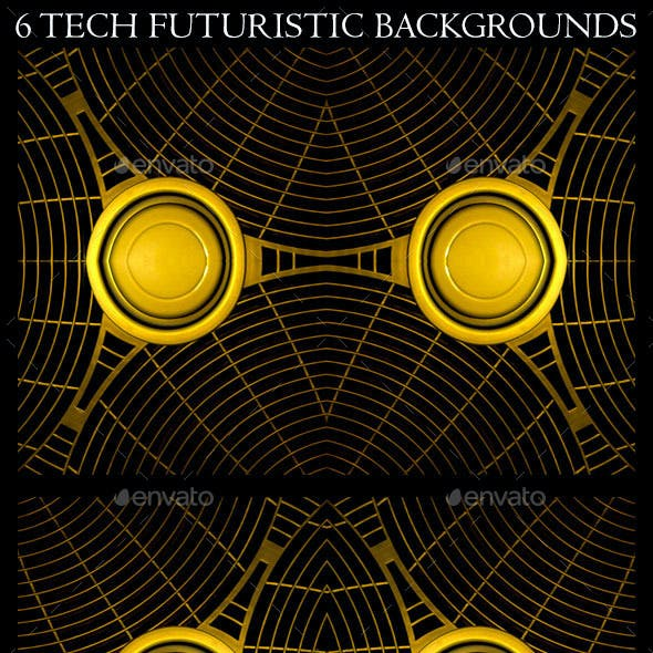 6 Futuristic Tech Background Patterns