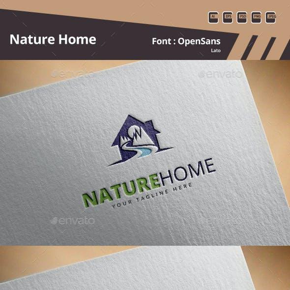 Nature Home Logo Template