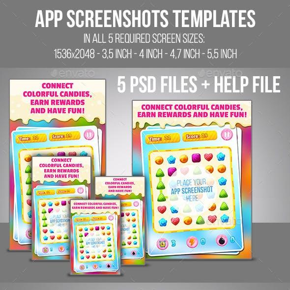 App Screenshots Templates Set #17