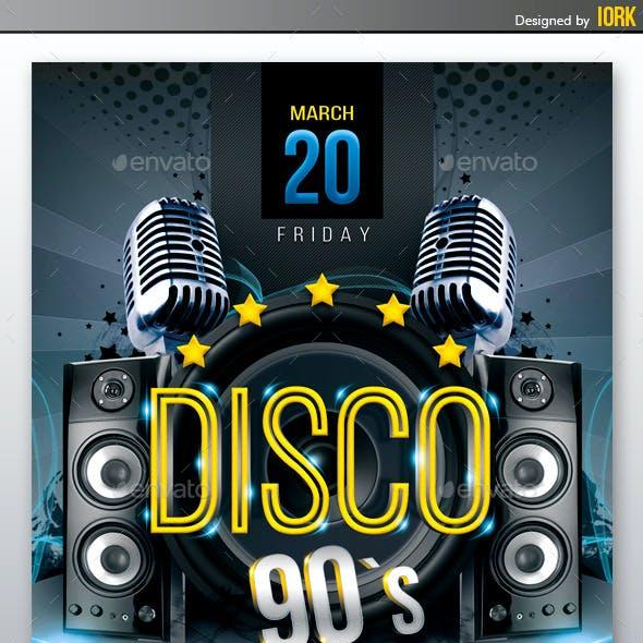 Disco 90`s Flyer