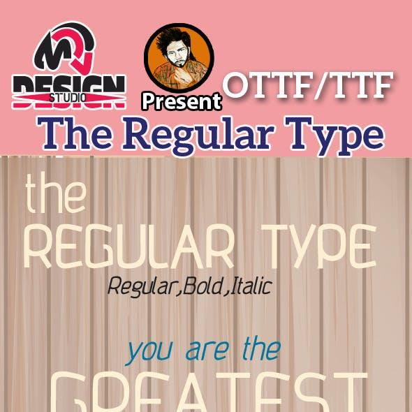 The Regular Type Font