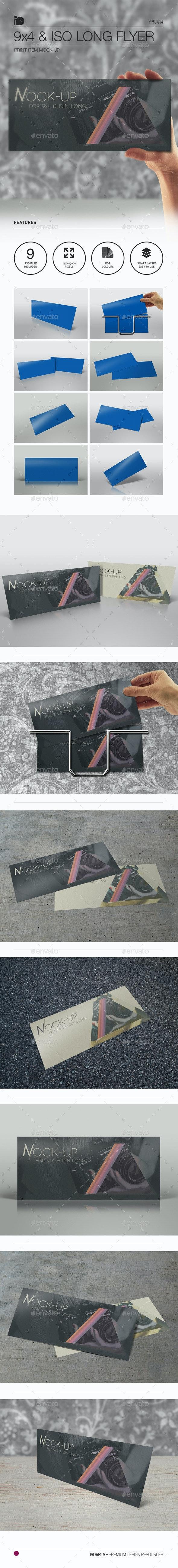 Mock-Up • 9x4 & ISO/DIN Long - Flyers Print