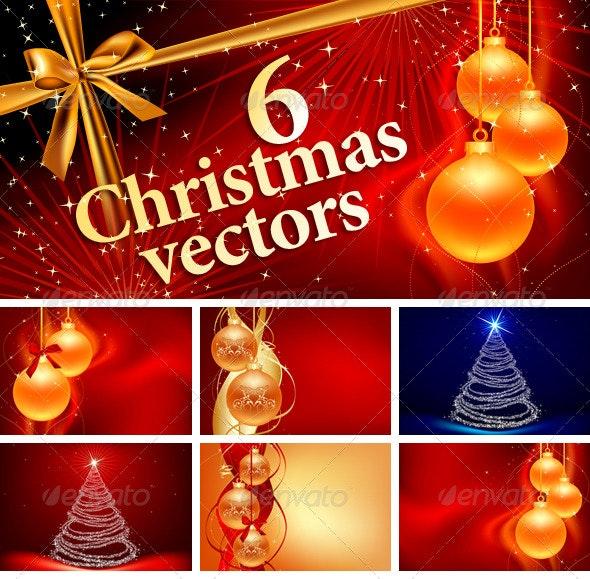 6 High Quality Christmas vectors - Christmas Seasons/Holidays