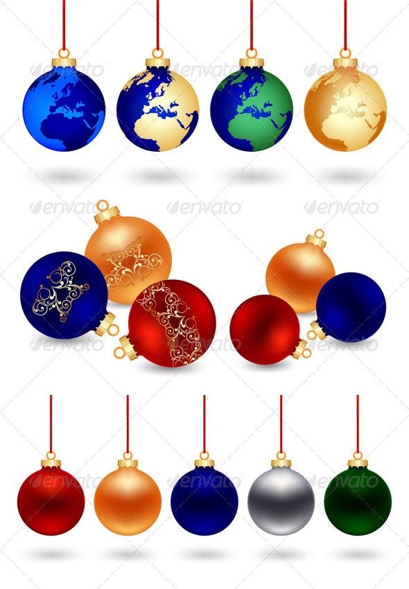 4 Vector Christmas balls - Christmas Seasons/Holidays