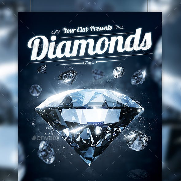 Diamonds Night Party Flyer Template
