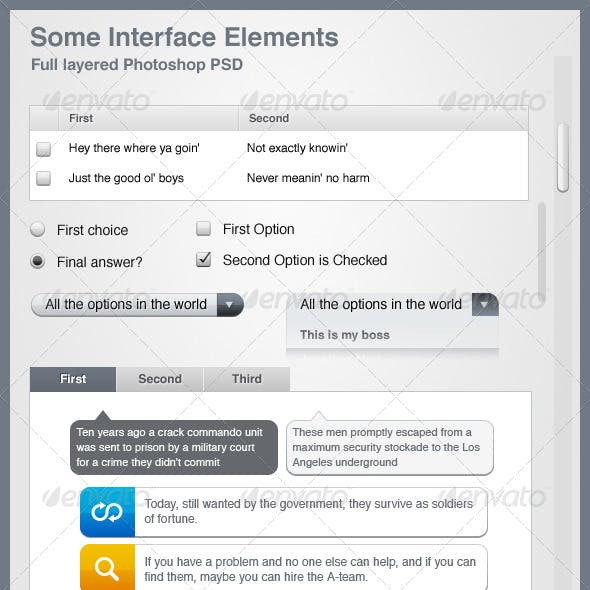 Some Interface Elements