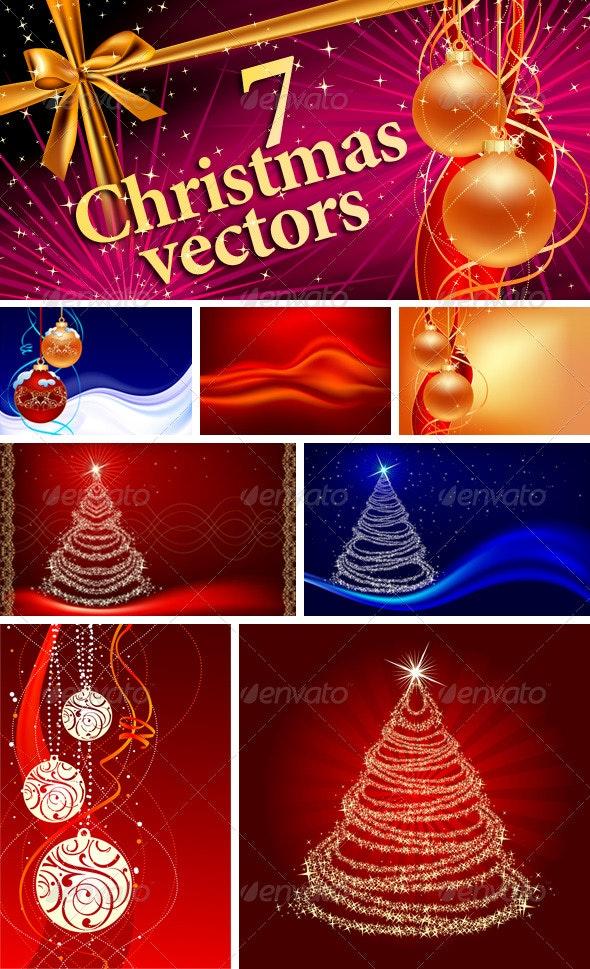 7 Christmas Vector designs - Christmas Seasons/Holidays