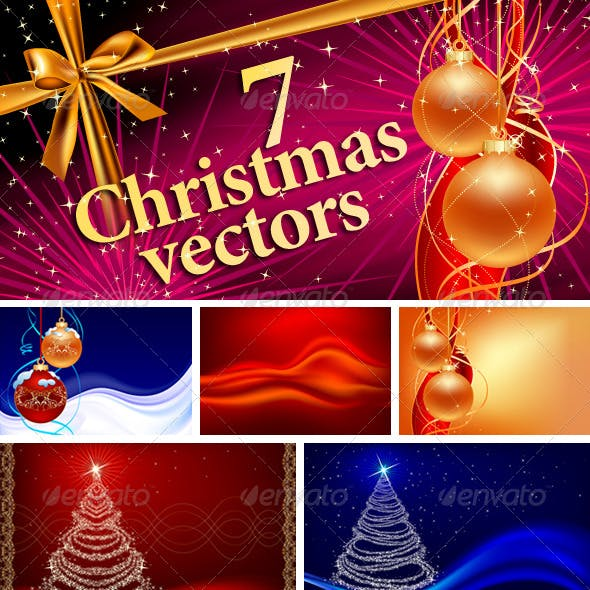 7 Christmas Vector designs