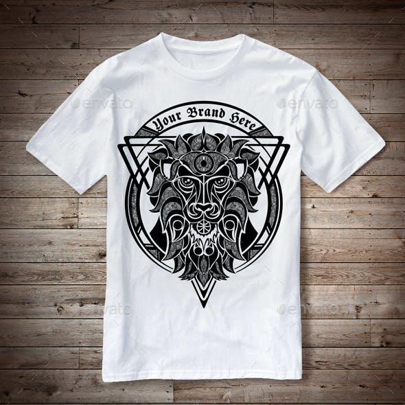 T-Shirt Illustration Lion Theme
