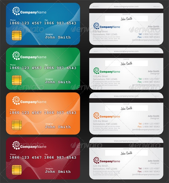 Credit Card Style Paper Business Card - Creative Business Cards