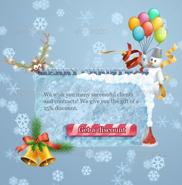 Christmas Banner - Web Elements
