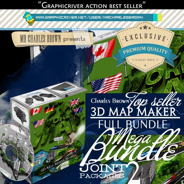 All Charles Brown's 3D Map Maker Bundle
