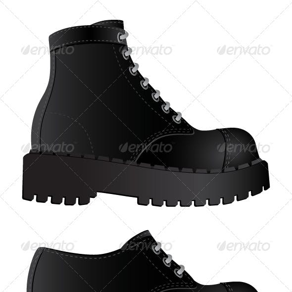 Isolated image of a boots