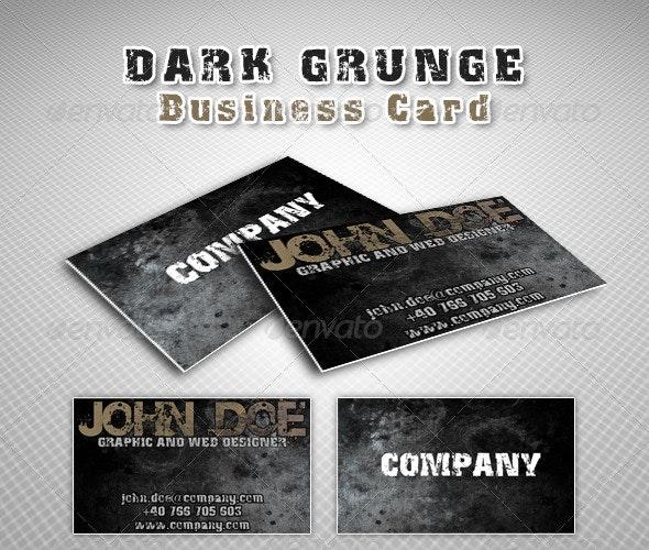 Dark grunge business card - Grunge Business Cards