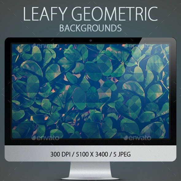 Leafy Geometric  Backgrounds