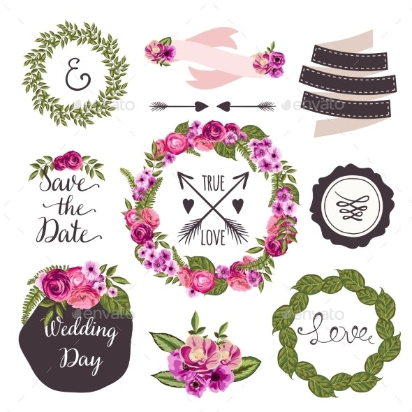 Wedding Collection Elements  - Decorative Vectors