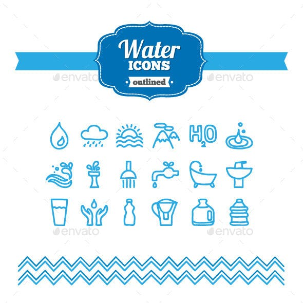 Hand Drawn Water Icons