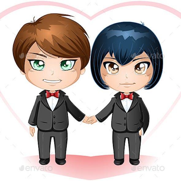 Gay Grooms Getting Married