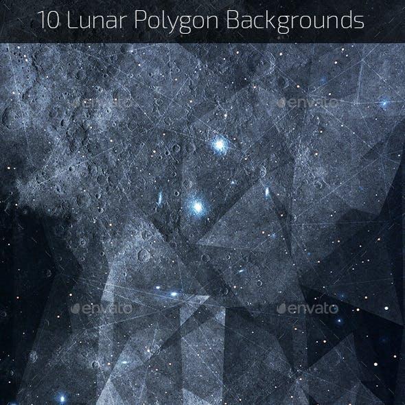 Lunar Polygon Backgrounds