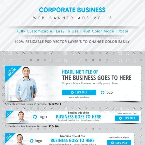 Corporate Business Web Ads Vol.8