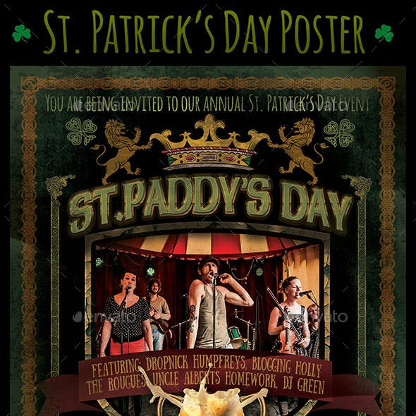 St. Patricks Day Poster - St Paddys