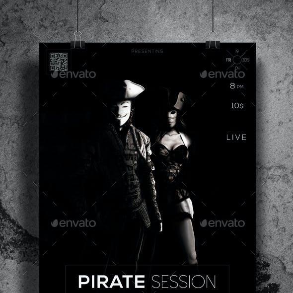 Dark Pirate Session Flyer