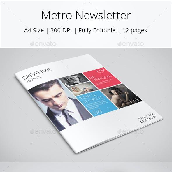 Metro Style Newsletter
