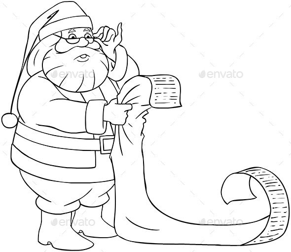 Santa Claus Reads From Christmas List - Christmas Seasons/Holidays