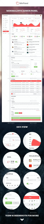 MinPanel - Minimalistic Admin Panel - User Interfaces Web Elements