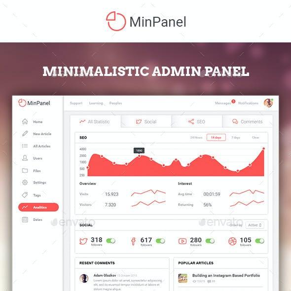 MinPanel - Minimalistic Admin Panel