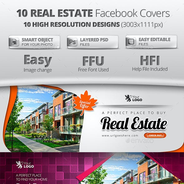 10 in 1 Real Estate Facebook Covers Collection