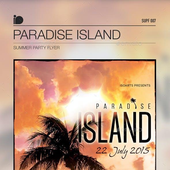 Summer Party Flyer • Paradise Island
