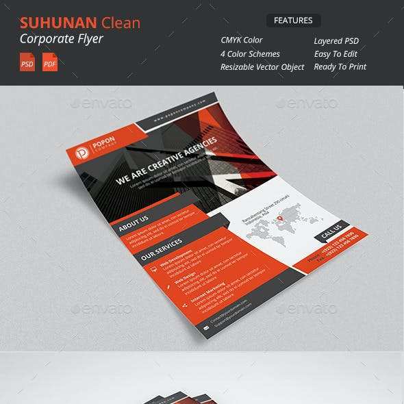 Suhunan - Clean Corporate Flyer