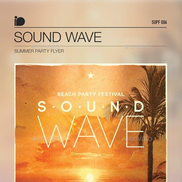 Summer Party Flyer • Sound Wave