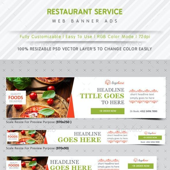 Restaurant Service Web Banner Ads