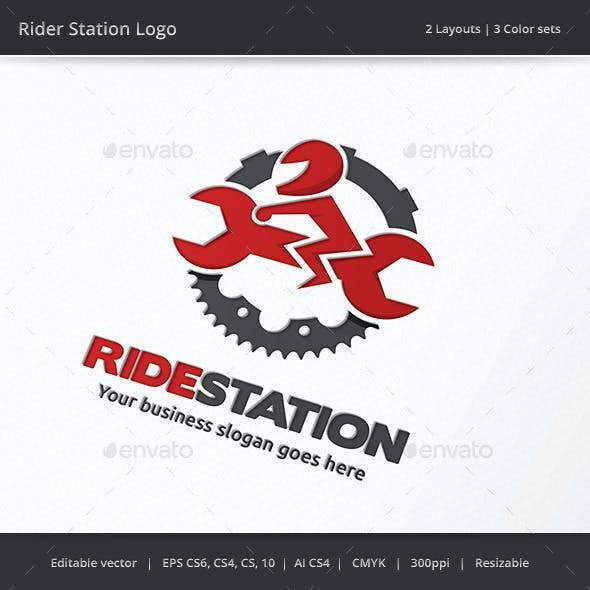 Rider Station Garage Logo