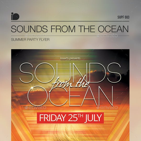 Summer Party Flyer • Sounds From The Ocean