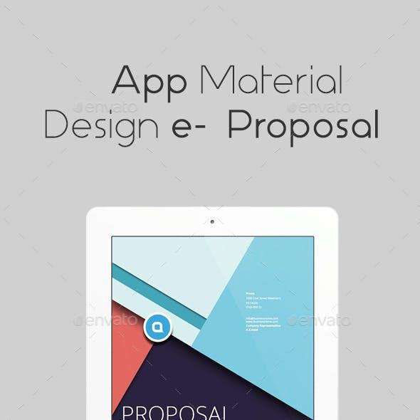 App Material Design e Proposal